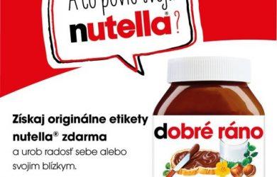 A čo povie TVOJA nutella®?