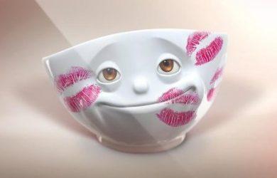 Porcelánové riady, ktoré vám so svojimi grimasami zlepšia deň