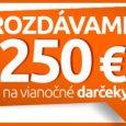 Získajte 250 € na vianočné nákupy od Hej.sk