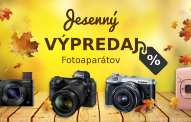 Jesenný výpredaj fotoaparátov so skvelými cenami